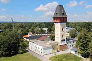 Vodárenská věž v areálu českobudějovické vodárny vodárny