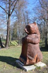 Medvěd v zámeckém parku