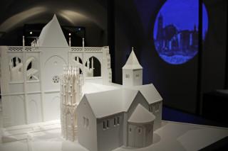 Model rozestavěného chrámu sv. Víta, Vojtěcha a Václava v podobě, kterou mohl vidět za svého života Karel IV.