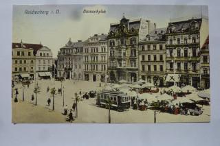 Bismarckovo, dnes Sokolovské náměstí v Liberci před 100 lety