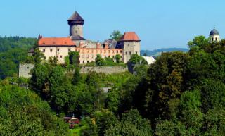 Takřka pohádková scenérie hradu Sovinec