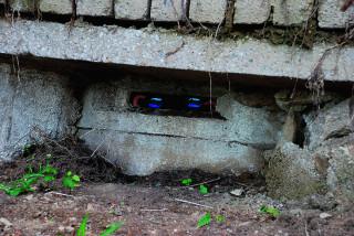 Nově odkrytá pozorovatelna na samém okraji Železné Rudy. Nechce se věřit, že najít ji neuměli ani starousedlíci. (Foto: Ing. Vít Pátek)