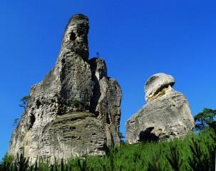 Bizarní modelace pískovcových útvarů na Hruboskalsku