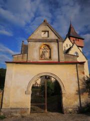 Vstup do areálu kostela sv. Kateřiny