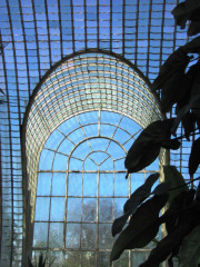 Lednice: zámecký skleník ve stínu zámku