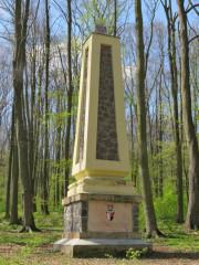Obelisk Hrzánů z Harasova (GPS 50.5483264N, 13.9163597E)