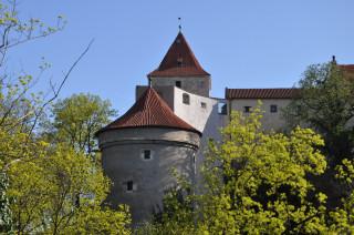 Pražský hrad – v popředí Daliborka, vzadu Černá věž