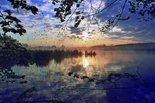 Rybník Kotvice po ránu