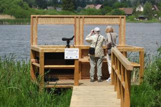 Nová ptačí pozorovatelna u Dolního rybníka ve Svitavách (foto: ČSOP)